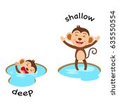opposite words deep and shallow ... | Shutterstock .eps vector #635550554