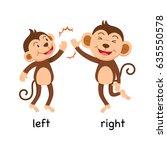 opposite words left and right... | Shutterstock .eps vector #635550578