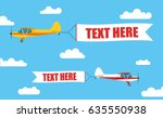 flying advertising banners ... | Shutterstock .eps vector #635550938