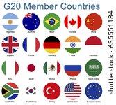 g20 member country flags | Shutterstock .eps vector #635551184