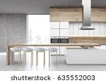 Front View Of A Kitchen With...