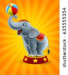 elephant show | Shutterstock .eps vector #635555354