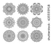 meditation pattern. vector... | Shutterstock .eps vector #635555918