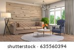 interior living room. 3d... | Shutterstock . vector #635560394