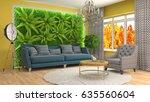 interior living room. 3d... | Shutterstock . vector #635560604