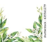 watercolor hand painted...   Shutterstock . vector #635561279