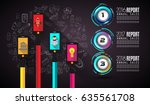 infograph template with... | Shutterstock .eps vector #635561708