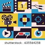 cinema  vector flat... | Shutterstock .eps vector #635564258