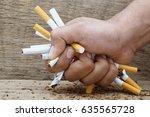 man refusing cigarettes concept ...   Shutterstock . vector #635565728