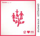 flat icon. family tree. | Shutterstock .eps vector #635566460