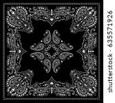 symmetrical bandana decorative... | Shutterstock .eps vector #635571926