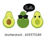 Cute  Avocado Characters....