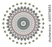 flower mandalas. vintage...   Shutterstock .eps vector #635578853