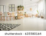 white  open plan home interior... | Shutterstock . vector #635580164