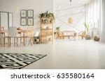 White  Open Plan Home Interior...