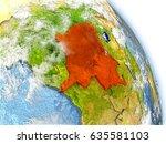 democratic republic of congoin... | Shutterstock . vector #635581103