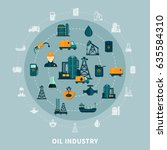 oil industry composition with... | Shutterstock .eps vector #635584310