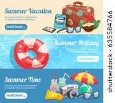 summer holiday set of...   Shutterstock .eps vector #635584766