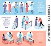 hospital information online 3... | Shutterstock .eps vector #635585618