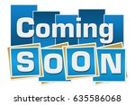 coming soon blue squares... | Shutterstock . vector #635586068