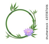Bamboo Round Frame With Pink...