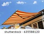new terrace awning  | Shutterstock . vector #635588120