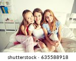 friendship  people  pajama... | Shutterstock . vector #635588918