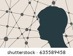 profile of the head of a man.... | Shutterstock .eps vector #635589458