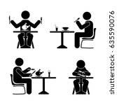 eating and drinking pictogram.... | Shutterstock .eps vector #635590076