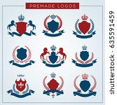 luxury logo set. brand identity ...   Shutterstock .eps vector #635591459