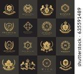 Stock vector luxury logo set 635591489