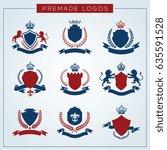 luxury logo set. brand identity ... | Shutterstock .eps vector #635591528