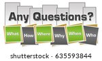 any questions green grey... | Shutterstock . vector #635593844