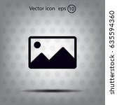 photograph icon   Shutterstock .eps vector #635594360