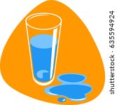 clean water in tall drinking...   Shutterstock .eps vector #635594924