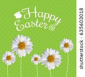 happy easter spring holiday... | Shutterstock . vector #635603018