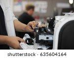 people hands opening checking...   Shutterstock . vector #635604164