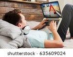 car insurance website in a... | Shutterstock . vector #635609024