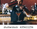expert barman is making... | Shutterstock . vector #635611256