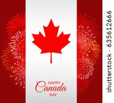 Canada Flag With Fireworks For...
