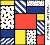 vector creative seamless... | Shutterstock .eps vector #635619650