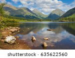 glencoe lochan area of forest... | Shutterstock . vector #635622560
