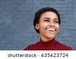 close up portrait of happy...   Shutterstock . vector #635623724