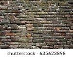 background of old vintage brick ... | Shutterstock . vector #635623898
