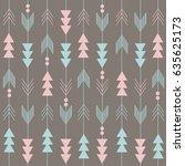 boho pattern | Shutterstock .eps vector #635625173