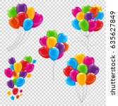 set  bunches and groups of...   Shutterstock . vector #635627849