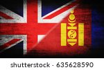 flags of great britain and... | Shutterstock . vector #635628590