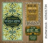 vector vintage items  label art ... | Shutterstock .eps vector #635631734