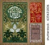 vector vintage items  label art ... | Shutterstock .eps vector #635631836