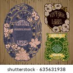 vector vintage items  label art ... | Shutterstock .eps vector #635631938